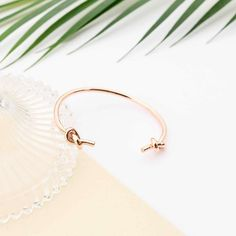 Majolie - Bracelet Jonc Double Noeud Or Rose – Majolie