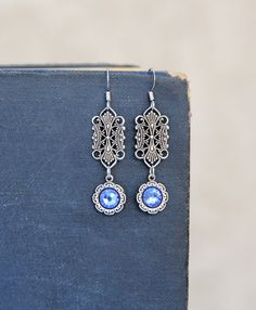 Birthstone Jewelry, Silver Filigree Jewelry, Fine Jewelry by LovelyFleur on Etsy