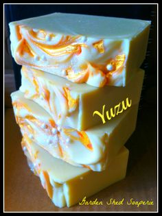 Yuzu! Based on the Japanese fruit of the same name, Yuzu is a fresh and sparkling citrus. With an added touch of Bergamot essential oil, this soap smells amazing! A lovely goat milk silk soap with shea butter and french clay with olive oil, coconut oil, babassu oil, avocado oil, palm oil & castor.