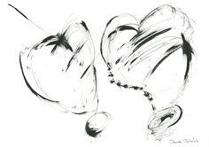 DARTGR0515011 #Heart #Black #love #Minimal #DanielaDallavalle #Grafismi #loveistheanswer #ink #sketches #art