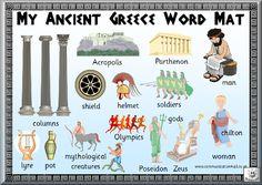 Free Printable Ancient Greece Word Mat