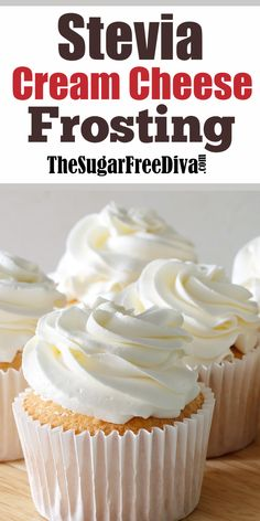 How to Make a Sugar Free Cream Cheese Frosting Using SteviaYou can find Sugar free recipes and more on our website.How to Make a Sugar Free Cream Cheese Frosting Using Stevia Brownie Desserts, Oreo Dessert, Mini Desserts, Sugar Free Desserts, Sugar Free Recipes, Low Carb Desserts, Diabetic Desserts Sugar Free Low Carb, Diabetic Cupcakes, Low Carb Cupcakes