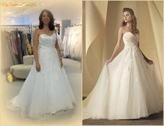 Real Women Brides Alfred Angelo Dress 2452 Satin Net Over Glitter Sizes With No Upcharge For Plus