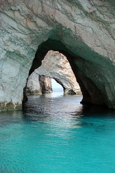 Blue Caves in Greece..look at that water color ugh to die for