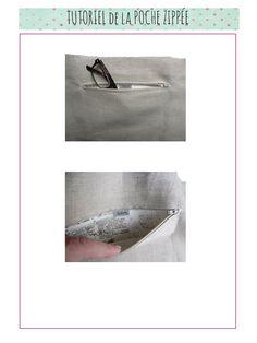 Tutoriel pour créer une poche zipée pour un sac par exemple par Dehem Créations