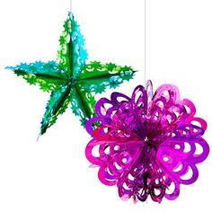 2 Pack Foil Hanging Decorations | Poundland £1 - 2012 Hanging Decorations, Christmas Decorations, Christmas Ornaments, Holiday Decor, Christmas Room, Xmas, Christmas Shopping, All The Colors, Create