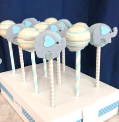 Elephant Cake Pops, Elephant Cakes, Beautiful Baby Shower, Beautiful Babies, Baby Shower Sweets, Baby Shower Treats