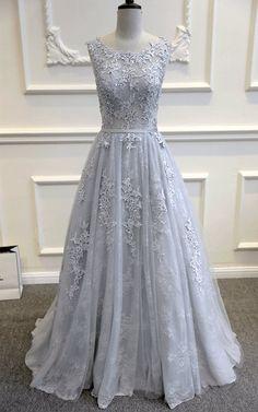 Robe de mariée dentelle bleu gris par WeekendWeddingDress sur Etsy