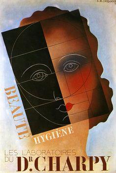 """PG344 """"Laboratoires du Dr. Charpy"""" Poster by Adolphe Mouron Cassandre (1930)"""