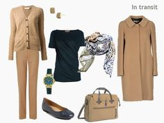 How to Pack for a Long Weekend: Teal and Camel