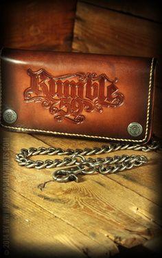 "Rumble59 - Leder Wallet ""sunburst"" handmade. Hohe Qualität, höchster Standard, handgefertigt aus hochwertigem, naturgegerbtem Sattelleder. Das Must have für jeden Rock'n'Roller oder Rockabilly. Rockabilly-Rules.com"
