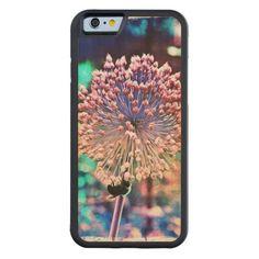 Pastel Allium N Bee Wood iPhone 6 case