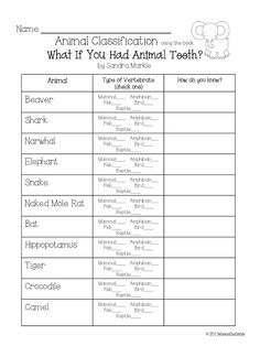 Science for Kids: Animal Classification