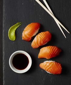 Salmon Nigiri | Rice vinegar is less acidic than some other vinegars and adds a mellow, sweet flavor to marinades and salad dressings.