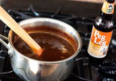 A recipe for homemade #BBQ sauce using an imperial stout beer - Grilling24x7.com