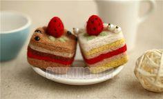 Needle felt petite cakes