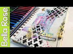 Gold Foiling Technique + Inktense Blocks - Mixed Media Art Journal - YouTube