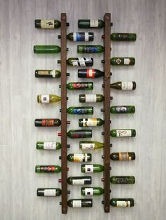 Tuscan Wine Rack 16 Bottle Ladders - Set of 2 by VetrinaDelVino on Etsy Wine Rack Wall, Wine Wall, Wine Racks, Regal Bad, Drywall Installation, Deco Restaurant, Wine Display, Dining Room Wall Decor, Wine Storage