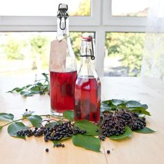 Make syrup yourself - basic recipe - Limonade Sirup - Healthy Eating Tips, Healthy Drinks, Healthy Dinner Recipes, Healthy Food, Vegan Easy, Food Club, Vegetable Drinks, Fruit Recipes, Smoothie Recipes