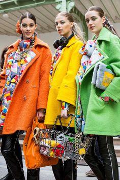 Chanel orange coat
