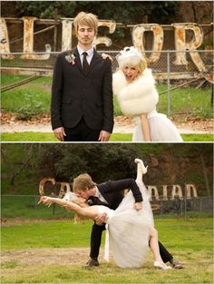 Wedding photo ideas for the bride and groom.  Dancing or silly poses are a great way to show off your personalities.  Posted from Alternative Groom.  http://alternativegroom.blogspot.com/2013/05/poses-you.html