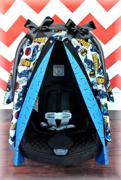 BATMAN carseat canopy car seat cover NEW black by JaydenandOlivia