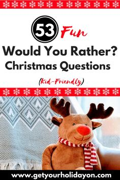 """Extra Fun and Free Party Game Idea Are you ready for some laughs? Looking for a kid-friendly holiday game idea? This """"Would You Rather"""" Christmas edition that is suited for the whole family is a free and fun game to use for a family fun night, a holiday get together, or a Christmas party. Laugh untilRead More"""