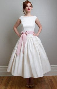 Tea Length Wedding Dresses for your 50s Style Wedding