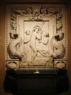 Chatsworth House. Interior fountain bas relief
