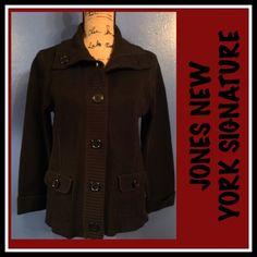 JONES NEW YORK SIGNATURE SWEATER JACKET JONES NEW YORK SIGNATURE SWEATER JACKET SZ L🌺 🍭🍒❤️ Jones New York Sweaters