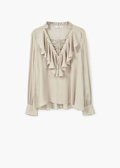 Ruffled blouse | MANGO