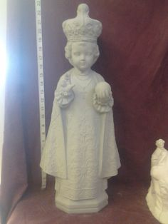 Rare Vintage White Horse Infant of Prague by CeramicKreations, $55.00
