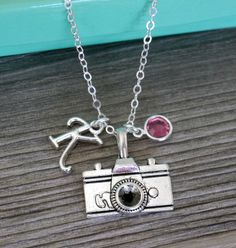 Camera Necklace Photographer Necklace Personalized by MadiesCharms