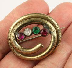 Antique Victorian c 1890 gilt metal suffragette brooch pin  | eBay