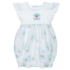 Baby Girls Romper With Embroidery Princess Petal Poplin 3-6m Under The Nile   ceab52267f05