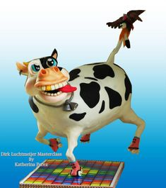 Funky cow gravity defying cake - Cake by Super Fun Cakes & More