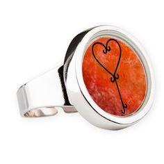 Heartkey Pumpkin round ring
