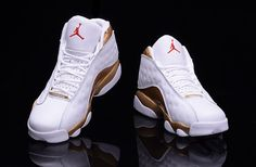 "d07991cb2c79 2017 Air Jordan 13 ""DMP"" White Metallic Gold-Black-Varsity Red 414571-135"