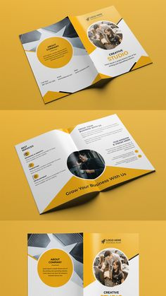This Corporate Tri-fold Brochure template is suitable for a creative and corporate agency. It's made with Photoshop and easily editable text, logo, color, image, and all layers are properly organized. In this PSD file. #brochure #bifold #bifold_brochure #brochure_template #proposal #annualreport #squre_brochure #bifold_design #elegant #flyer #corporate_bifold #business_bifold #a4_brochure #brochure_template #corporate #business #advertising #company_profile #multipurpose #promotion… Bi Fold Brochure, Brochure Template, Corporate Business, Business Names, Company Profile, Tri Fold, Logo Color, Marketing Materials, Proposal