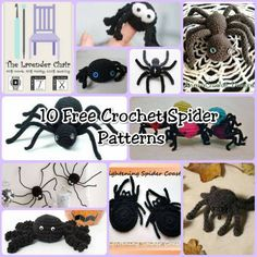 Check out these 10 free crochet spider patterns. Make them to prank your friends and family, Or use them to decorate your home for Halloween! Halloween Knitting, Halloween Crochet Patterns, Halloween Crafts, Holidays Halloween, Fall Crafts, Happy Halloween, Crochet Mask, Crochet Toys, Free Crochet