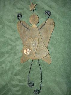 Angels Old Barn Wood Christmas Angels Church Angels and by CooClaw, $26.00