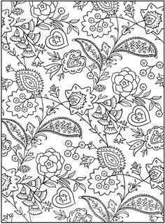 "From ""Creative Haven Paisley Design Collection Coloring Book"" by Dover Publications  . . . . ღTrish W ~ https://www.pinterest.com/trishw/doodles/ . . . .  #doodle"