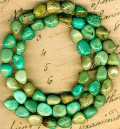 """Mexican Campo Frio Turquoise BEADS100 Pure 16"""" Strand Genuine Color 7x8mm 