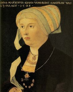 1528 Portrait of Anna Martoffin, by Conrad Faber  von Creuznach
