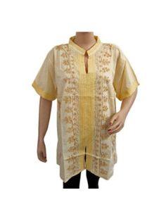 Amazon.com: Womens Boho Fashion Cotton Blouse Sequin Embroidered Tunic Top Medium Size: Clothing