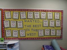 Wild West bulletin board to share student work