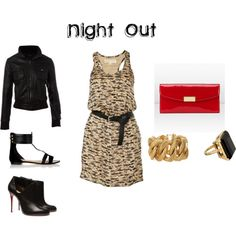 Night out outfit. Flats for comfort. Heel option for sass.