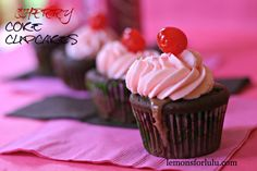 Cherry Coke Cupcakes www.lemonsforlulu.com