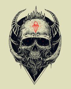 skull series 2011 by Rasefour , via Behance #skull #illustration #horns