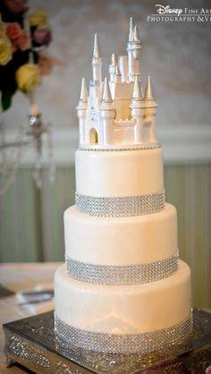 Castle wedding cake.